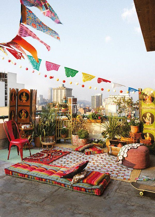 11 Ideas About Boho Chic Terraces - Very Cozy To Enjoy With Your Family