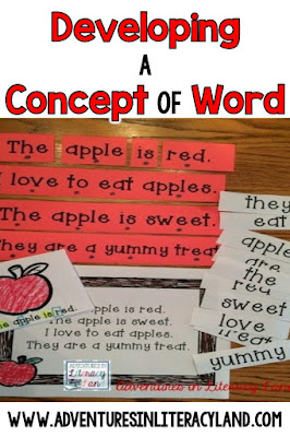 Check out this informational post demonstrating how to develop a concept of word with emergent readers. Includes video modeling and a free COW poem to print and use.