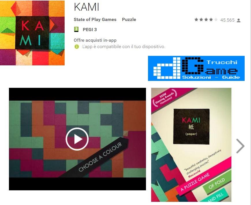Soluzioni KAMI 2 Viaggio Pagina 1 2 3 livello 1 -18 | Trucchi e Walkthrough level