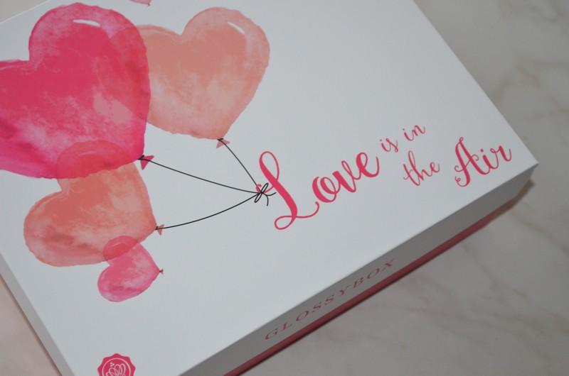 Glossybox Love is in the air, la box beauté Saint Valentin