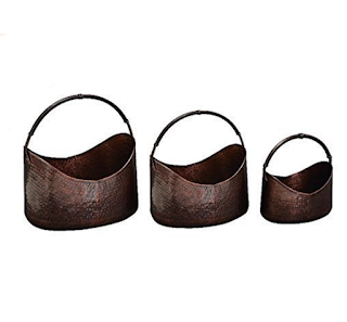 Metal Planters with Handle - Set of 3
