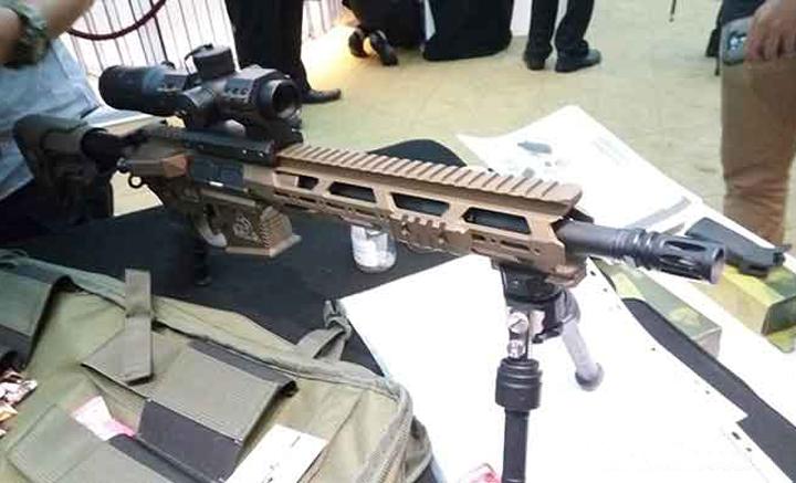 Prototipe Senapan serbu D5 buatan PT Komodo Armament Indonesia