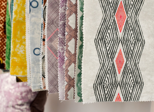 African-inspired fabrics by Eva Sonaike at Decorex during London Design Festival 2016 #LDF16