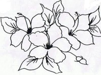 Riscos Desenhos Para Pintura Em Tecido Flores Como Faco