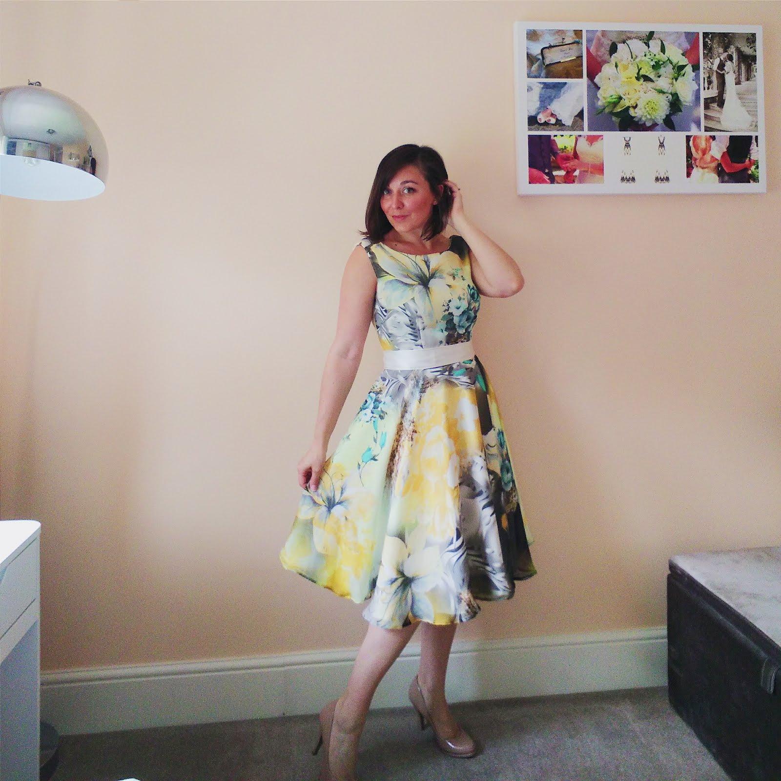 Handmade wedding guest dress