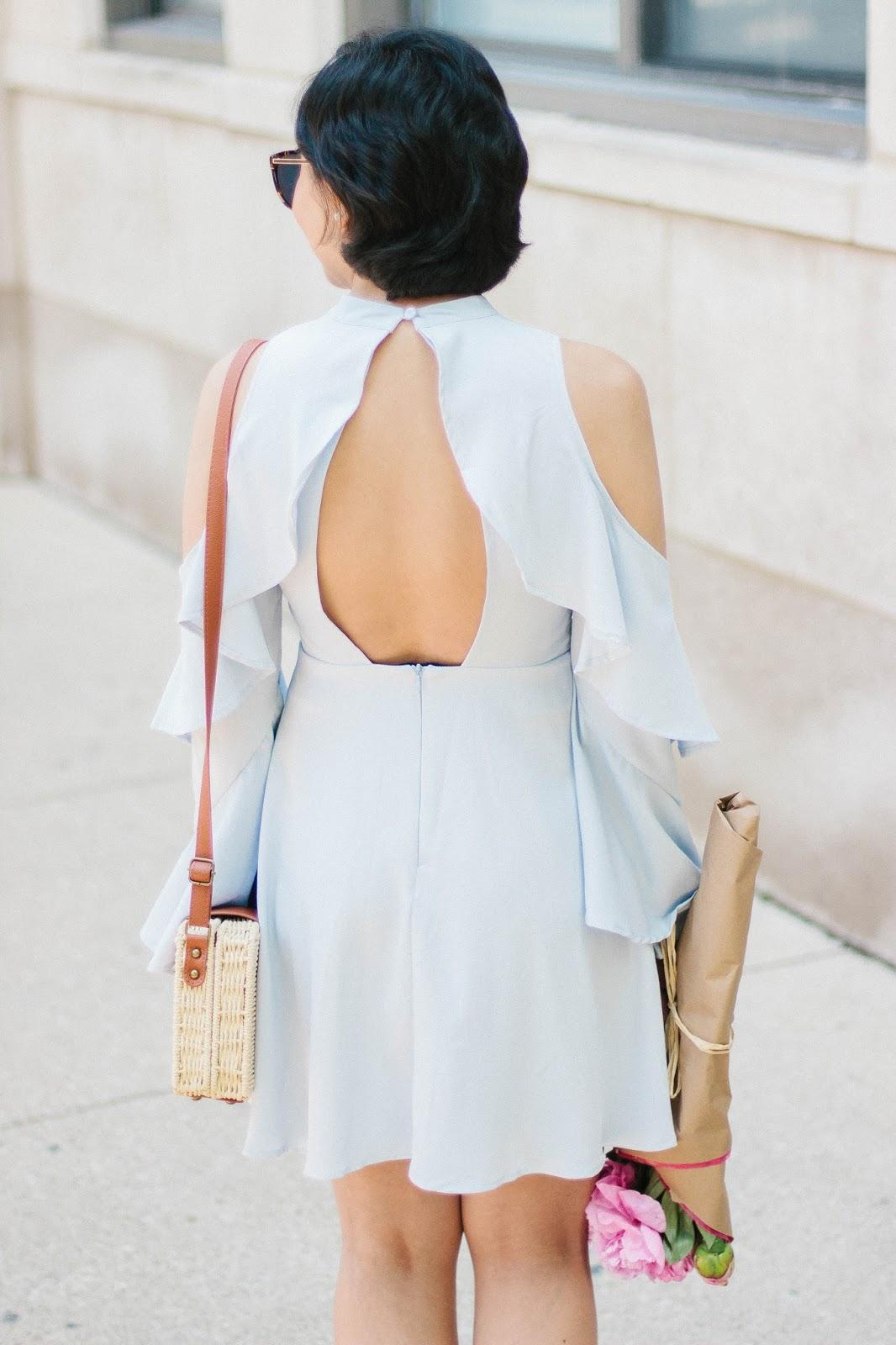 Cold-Shoulder Dress for the Summer