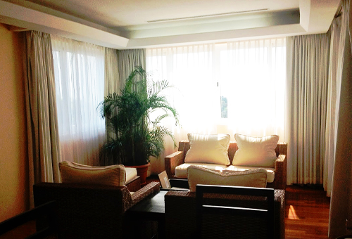 living room of a hotel suite