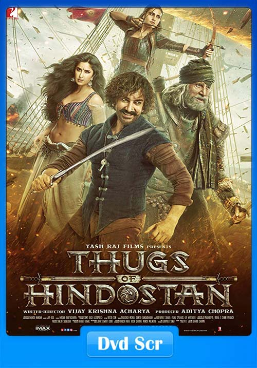 Thugs of Hindostan 2018 720p Hindi DVDScr | 480p 300MB | 100MB HEVC