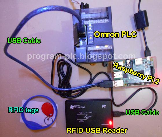 Omron PLC USB - Raspberry Pi - RFID USB Reader