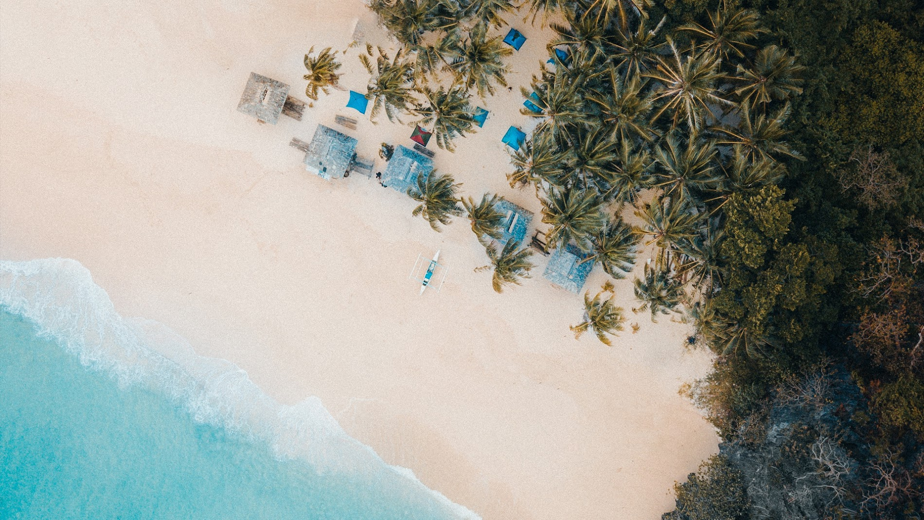 Beach Drone View HD Wallpaper