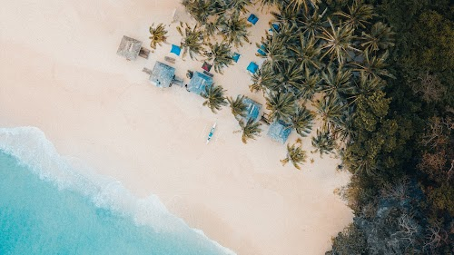 Beach Drone View HD Wallpaper | Nature Image