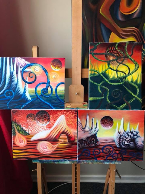 Alien Looking Paintings