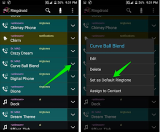 set audio file as default ringtone Android