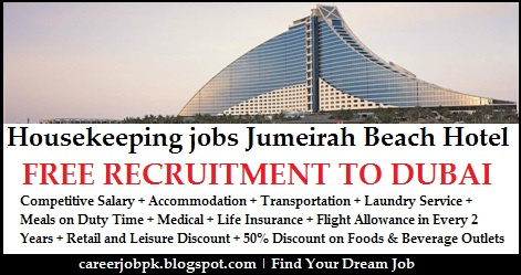 Jumeirah Beach Housekeeping Jobs