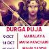 Durga Puja Dates - 2018 | Mahalaya | Ashtami | Navami |Sasthi | Dasami