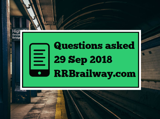 RRB Railway Group D 2018 Exam Analysis Questions Asked 29th September 2018 ( 1, 2, 3 Shifts) ( English & Hindi)