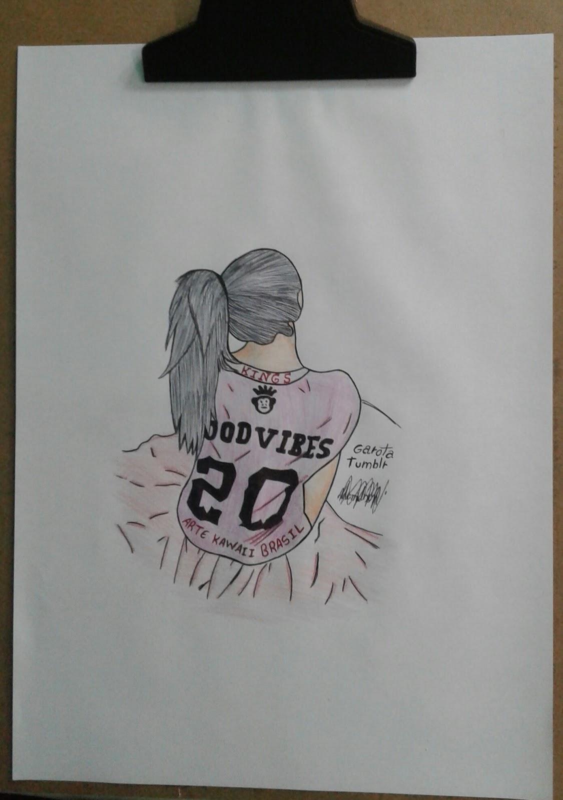 desenho de garota tumblr