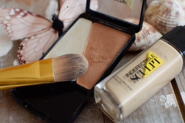 L'Oréal Indefectible Sculpt, Palette und Make-Up