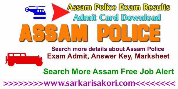 Assam Police Exam Result