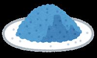粉のイラスト(青)