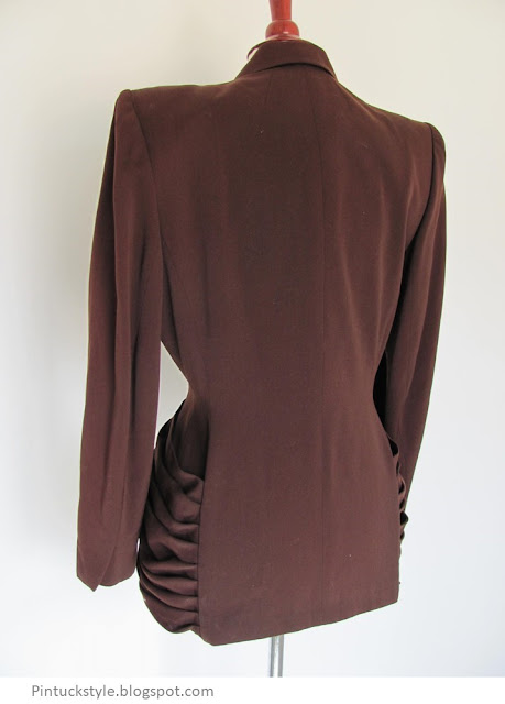 Lilli Ann brown jacket back view