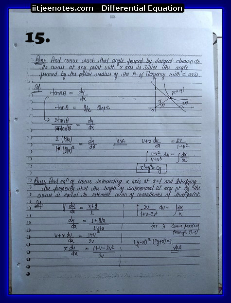 differential equation notes2