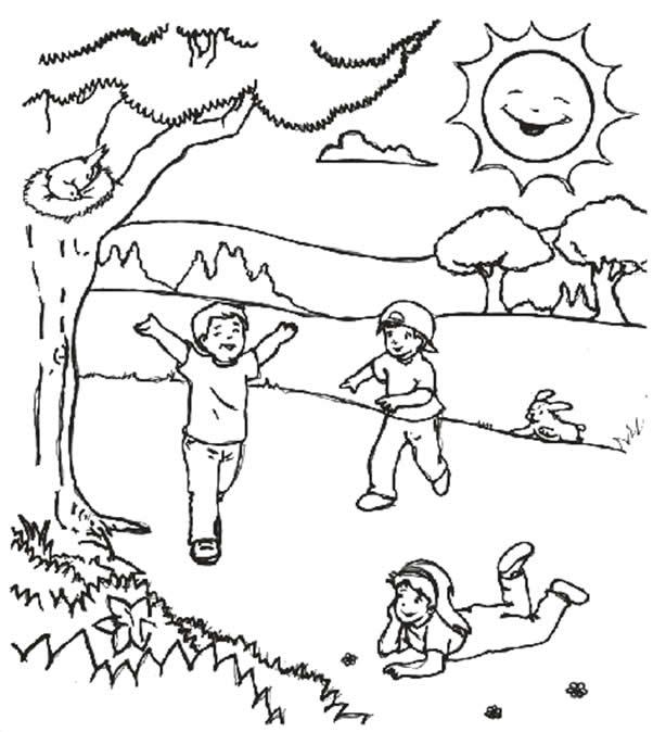 Excelente Páginas Para Colorear Para La Primavera Imprimible Galería ...