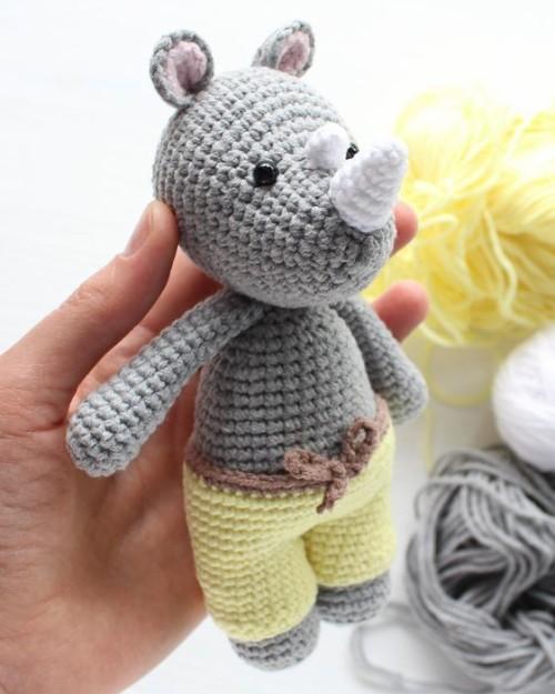 Cuddle Me Rhino - Free Amigurumi Pattern