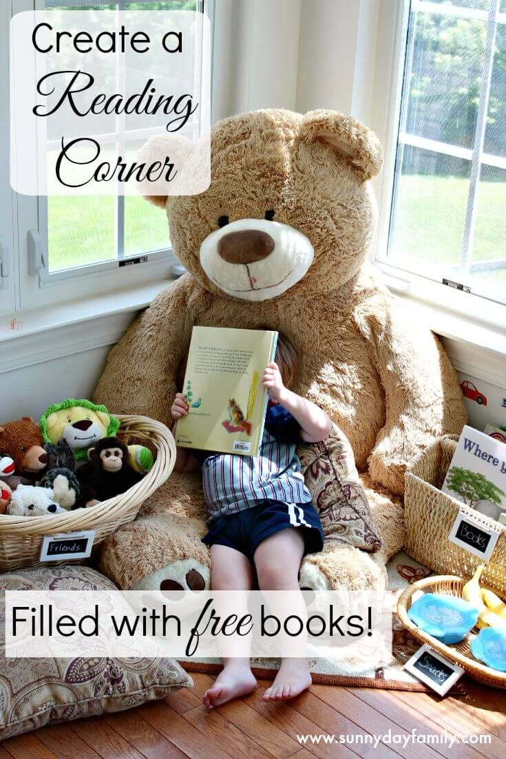Create a reading corner for kids filled with free books! #Back2SchoolReady #ad