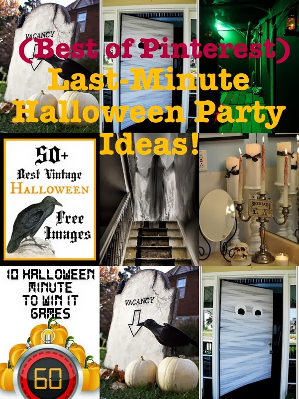 last minute halloween party