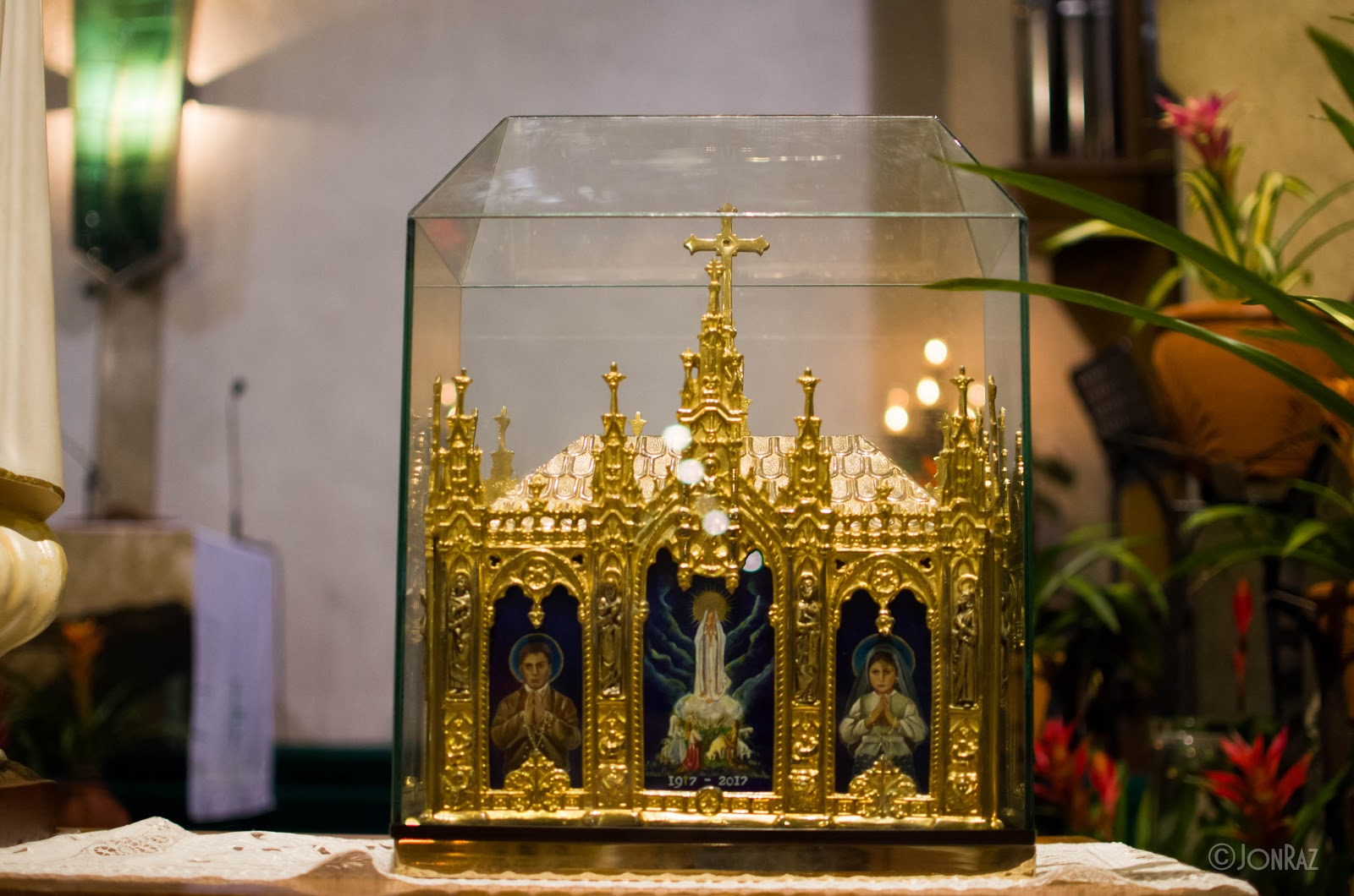 The Mission Image of the Our Lady of Fatima and the Relics of St. Jacinta and St. Francisco