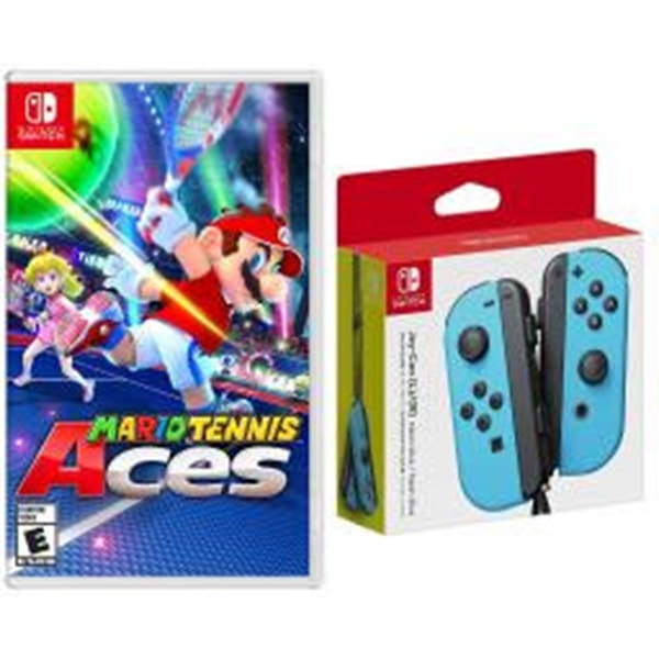 Nintendo Switch Super Mario Tennis Aces and Joy Con Controllers Bundle only $107.95 (was $139.99) with Free Shipping. Available in Neon Blue, Neon Red, Neo Red/Blue & Gray Joy Con Controllers.