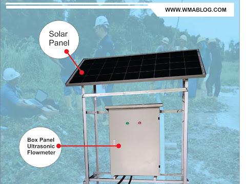 Flowmeter Sistem Tenaga Surya dengan Daya Cadangan 5 hari