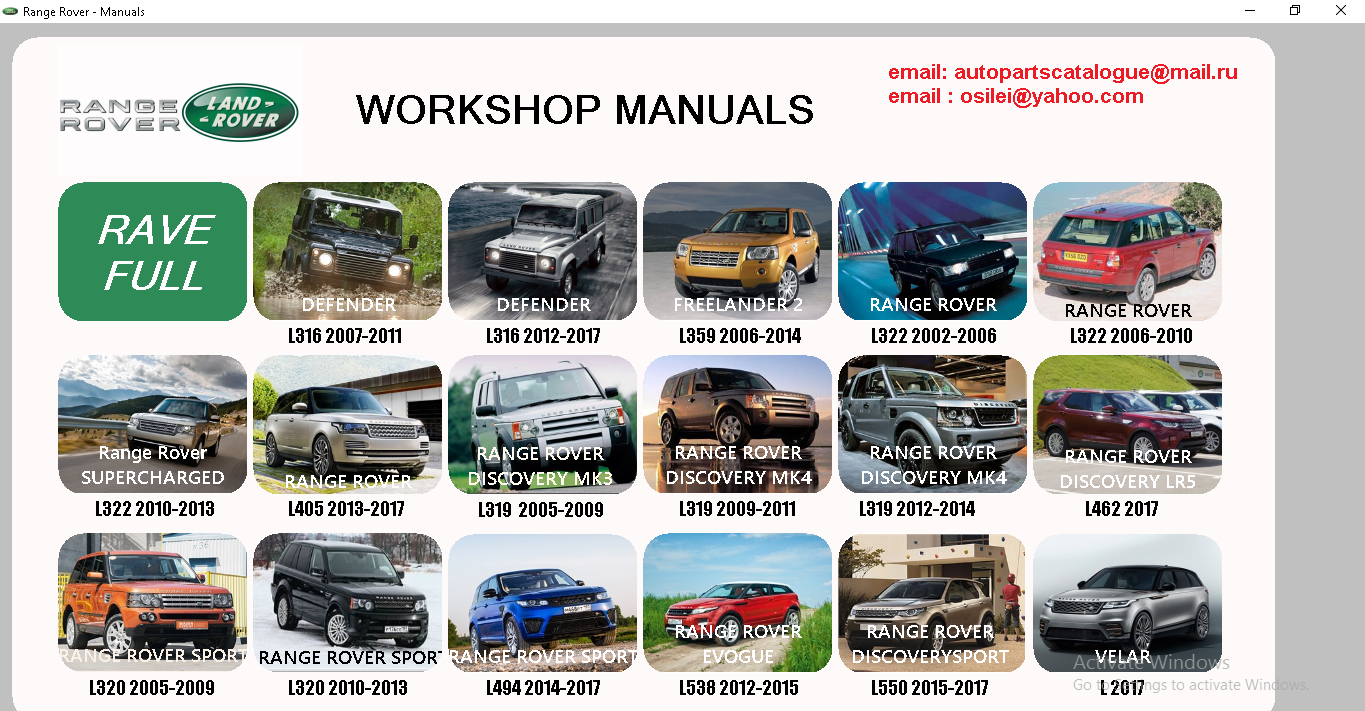 land rover range rover workshop manual service manual 2017 rh  autopartscatalogue net land rover workshop manuals free downloads land rover  workshop manuals ...