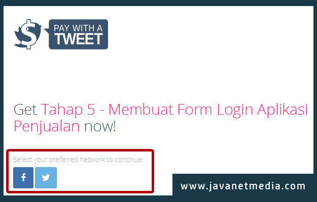 Panduan Download Source Code di JavaNet Media