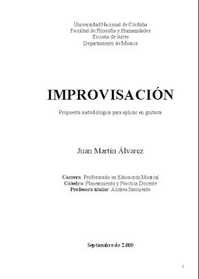 Curso de improvisación para guitarra