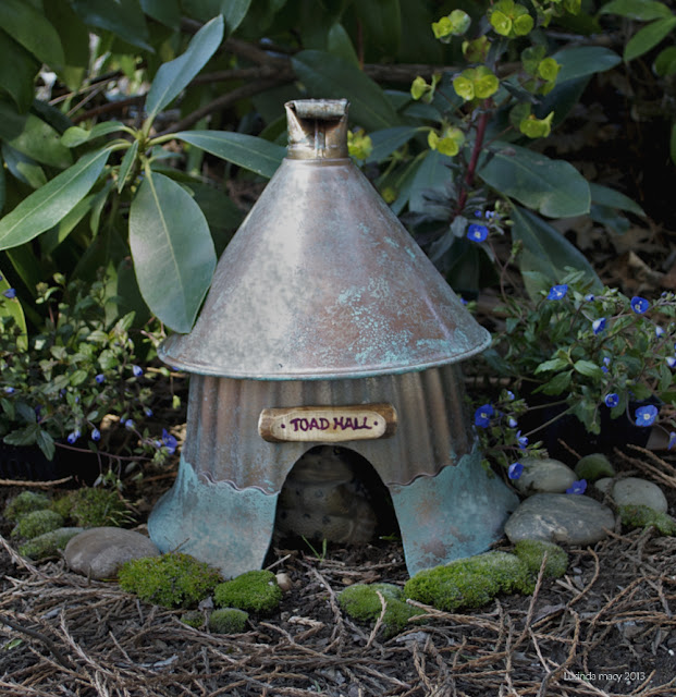Genial Here It Is Assembled And In The Garden. The Faux Metal Finish Was Added To  The Pot And Funnel And The Doorway Cut With A Sabre Saw. This House Took  About An ...
