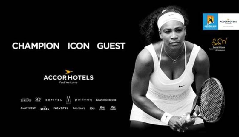 Serena Williams ambasciatrice di AccorHotels per il terzo anno consecutivo