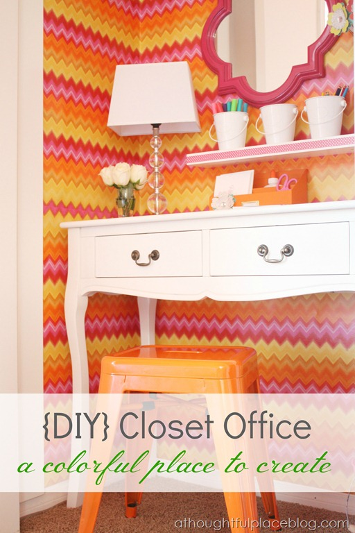 DIY Closet Office & New Pinterest Board | Honey We're Home
