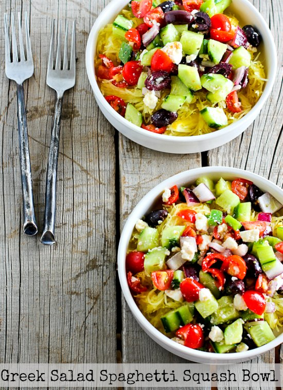 Greek Salad Spaghetti Squash Bowl