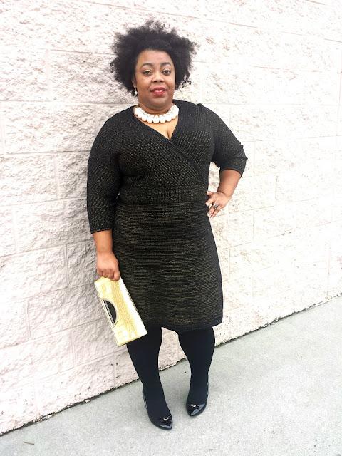 plus size sweater dress, lane bryant, plus size tights