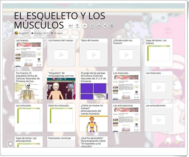 """""""18 Juegos y actividades interactivas para el estudio de EL ESQUELETO Y LOS MÚSCULOS en 2º de Primaria"""""""
