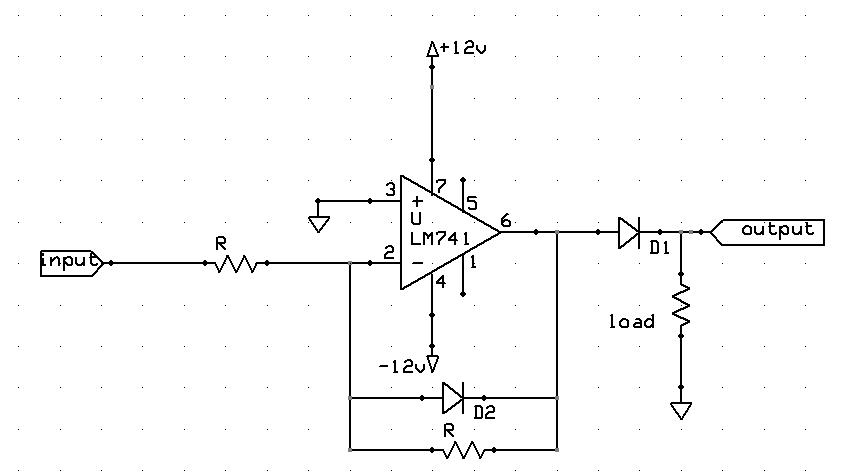 circuit diagram for halfwave rectifier
