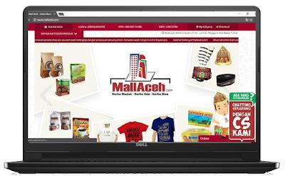 Belanja Online Souvenir Aceh di MallAceh, Desktop User interface