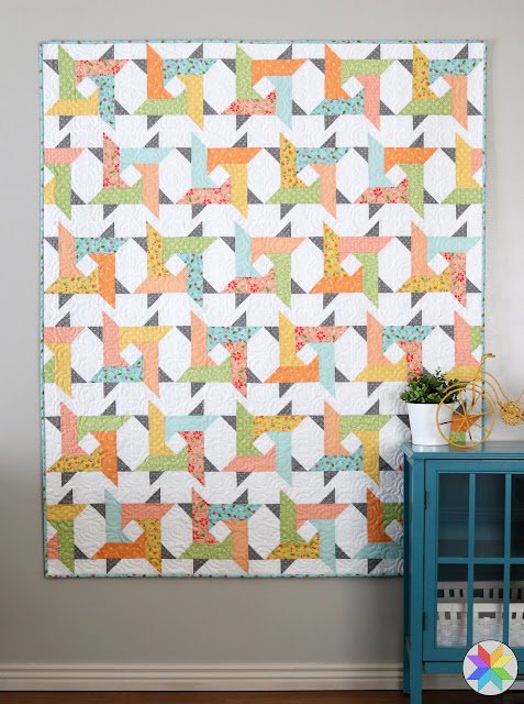 Windy City pattern by A Bright Corner - fun quilt pattern that uses precut fabric and has four sizes: crib, throw, twin, queen