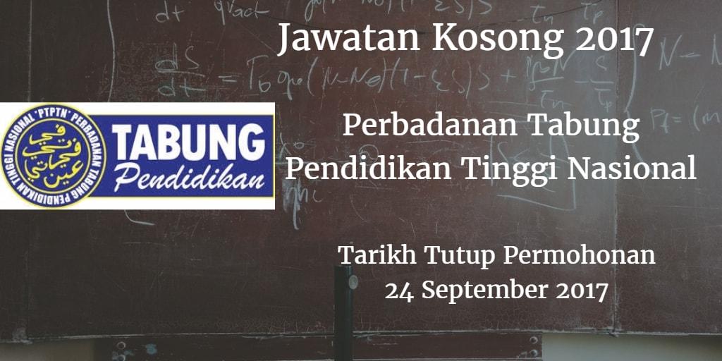 Jawatan Kosong PTPTN 24 September 2017
