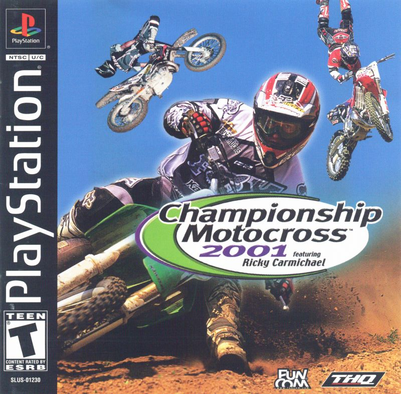 Championship Motocross 2001 - Ricky Carmichael - PS1 - ISOs Download