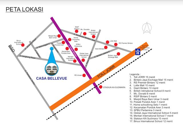 Peta Menuju Lokasi : Casa Belleuve