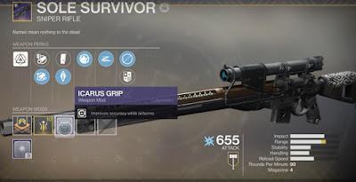 Destiny 2, Sniper Rifle, Sole Survivor, Gambit Prime