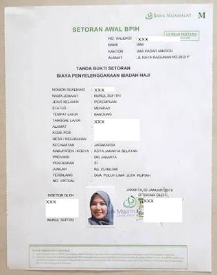cara syarat buka tabungan haji bank muamalat indonesia tanda bukti setoran biaya penyelenggaraan ibadah haji nurul sufitri mom blogger